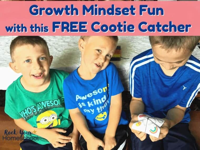 Have growth mindset fun with your kids using this free cootie catcher! Wonderful way to get your kids engaged & talking!
