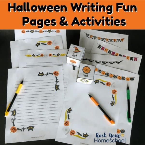 These 11 free Halloween writing fun are fantastic for holiday activities.