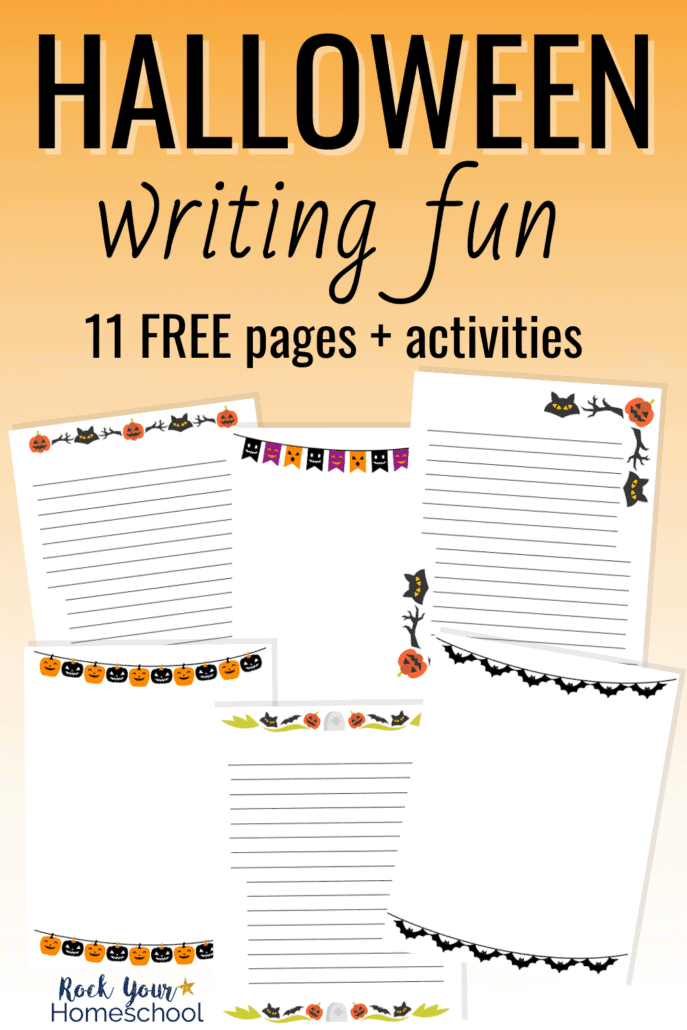 Halloween-themed writing pages to feature how these 11 free Halloween writing pages and activities can help you easily add writing fun to your holiday