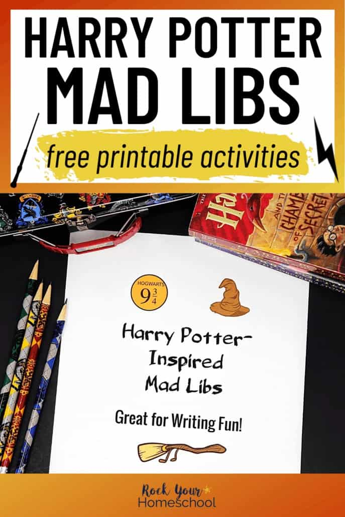 Free Harry Potter-Inspired Mad Libs for Writing Fun Activities
