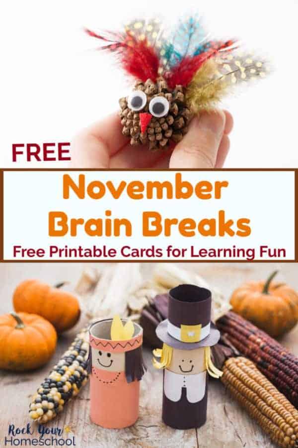 Free November Brain Breaks for Easy Homeschool Fun