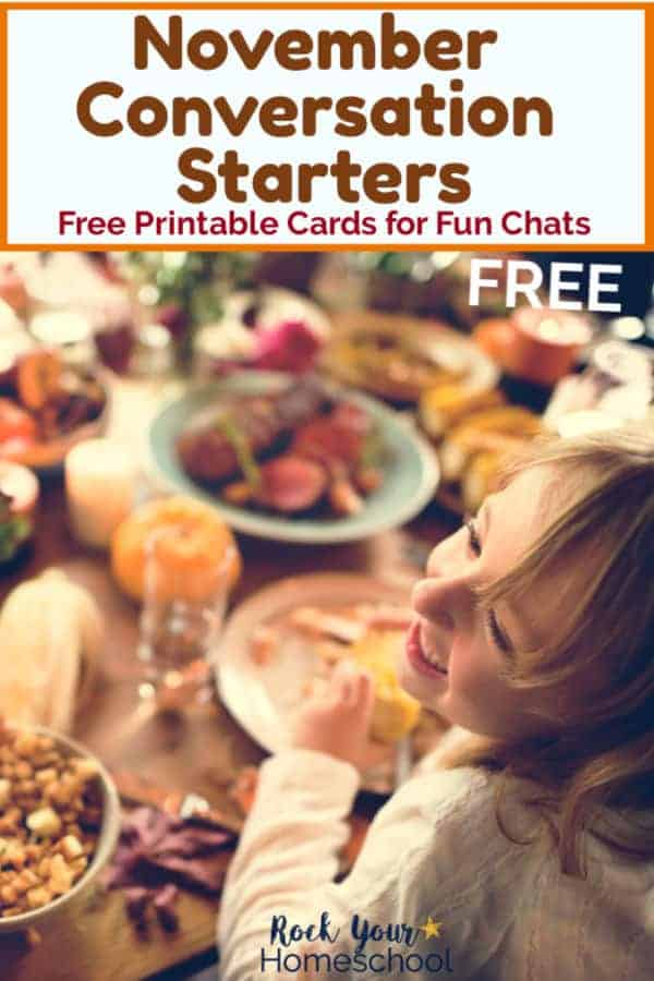 Free November Conversation Starters for Fun Chats with Kids