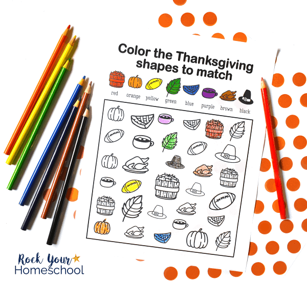 This free printable Thanksgiving coloring activity is a wonderful way to have easy holiday fun with kids.