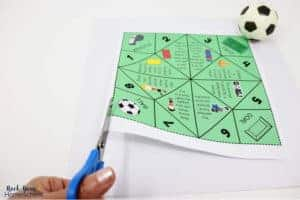 This soccer cootie catcher is easy to print out, cut, & assemble.