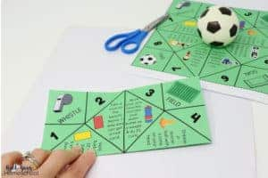 Get specific instructions on how to make this free printable soccer cootie catcher.