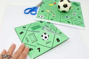 Enjoy a fun soccer-themed activity with your kids using this free printable soccer cootie catcher.