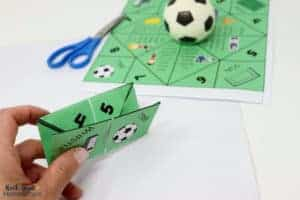 Your kids will have a blast with this free soccer cootie catcher at a party, team, or family event.