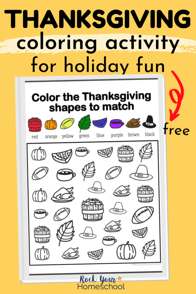 Thanksgiving coloring activity to feature the holiday fun your kids will have with this free printable activity