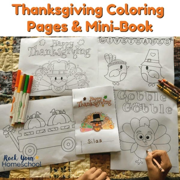 These free Thanksgiving coloring pages & mini-book are awesome activities to make the holiday fun with kids.