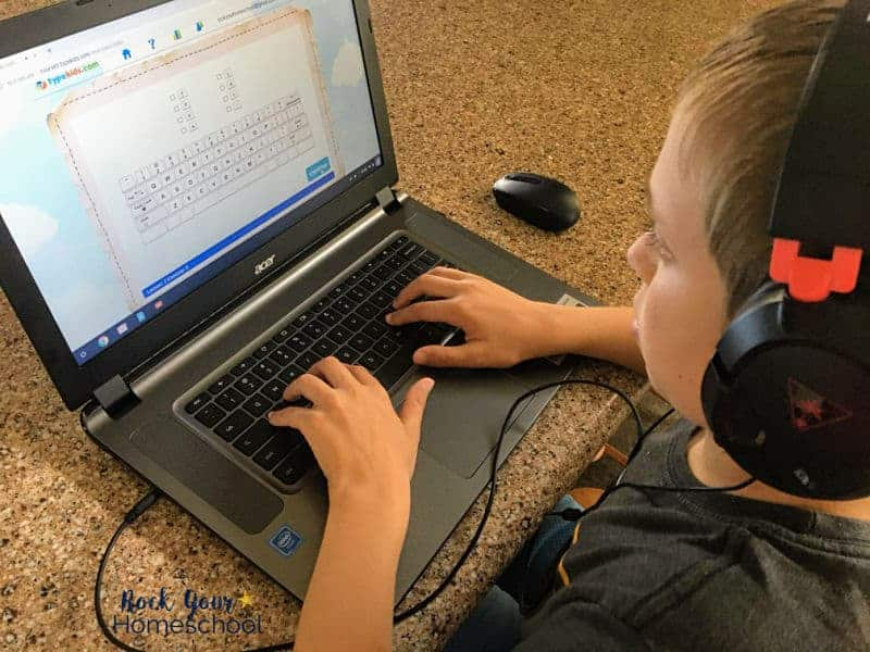 Stories, lessons, practice, & games are provided in this typing course for kids.
