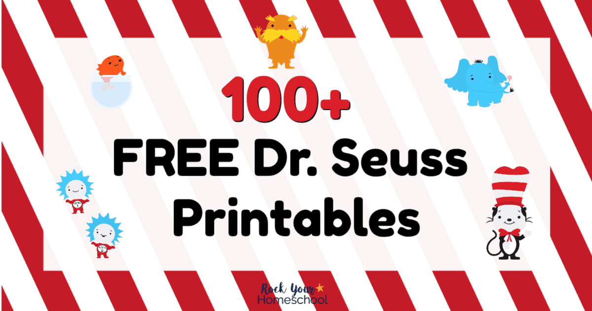 picture relating to Dr Seuss Printable Bookmarks titled 100+ Free of charge Dr. Seuss Printables Things to do for Exceptional
