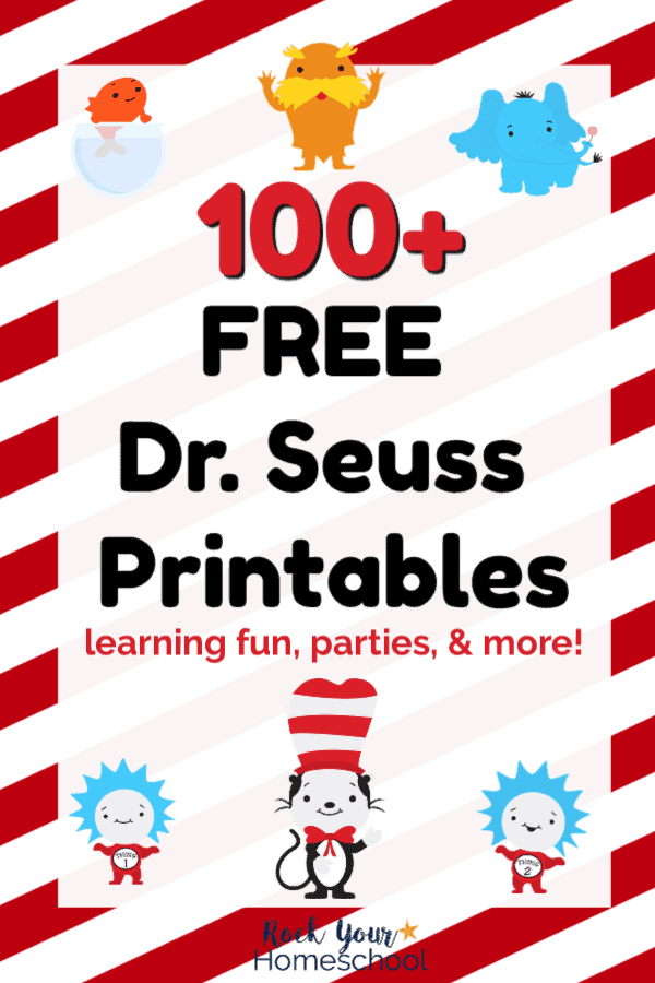 photograph about Printable Dr Seuss Characters titled 100+ Free of charge Dr. Seuss Printables Actions for Outstanding