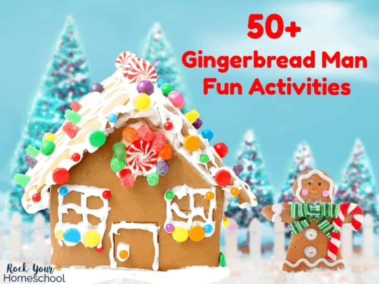 Get ready for some awesome & easy holiday fun with this list of 50+ Gingerbread Man Fun activities.