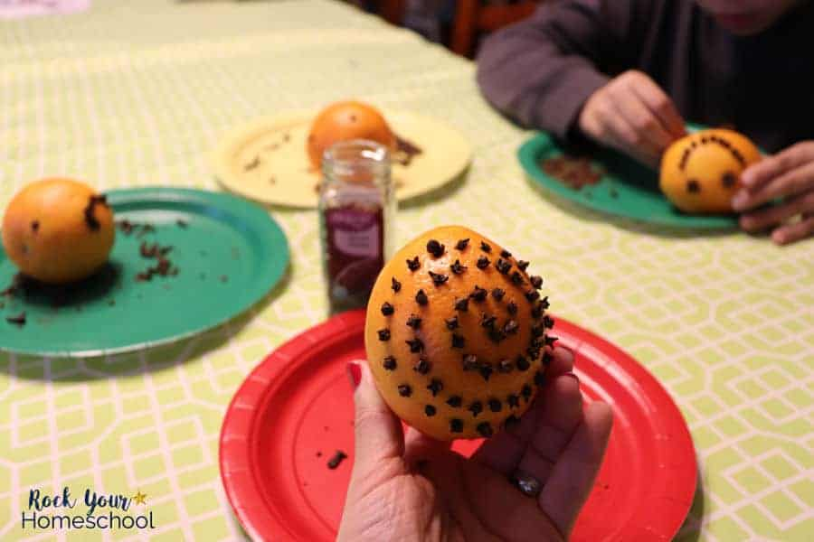 Making orange pomanders is a great activity to enjoy with kids during the holidays to practice & build keen observation skills.