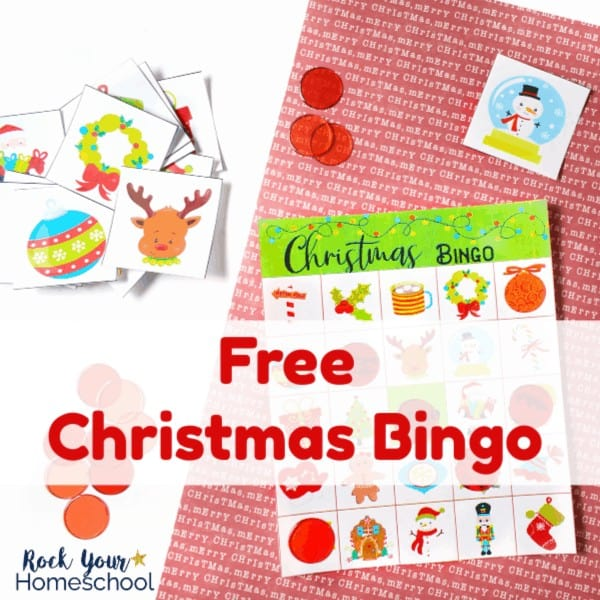 This free Christmas Bingo Game is a wonderful printable set that can help you have easy holiday fun with kids.