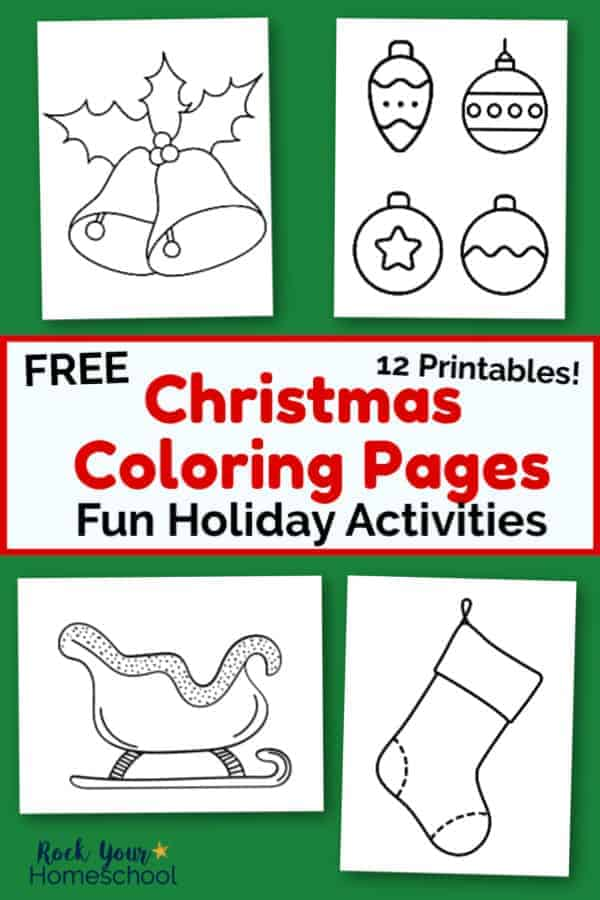 12 Free Christmas Coloring Pages for Kids