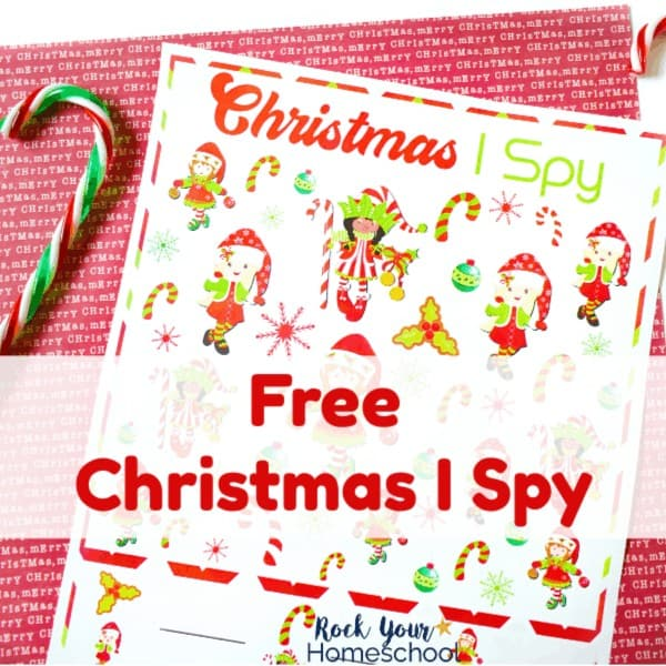 Enjoy an easy holiday fun activity with your kids using this free Christmas I Spy printable.