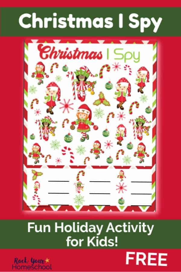 Free Christmas I Spy for Easy & Fun Holiday Activity