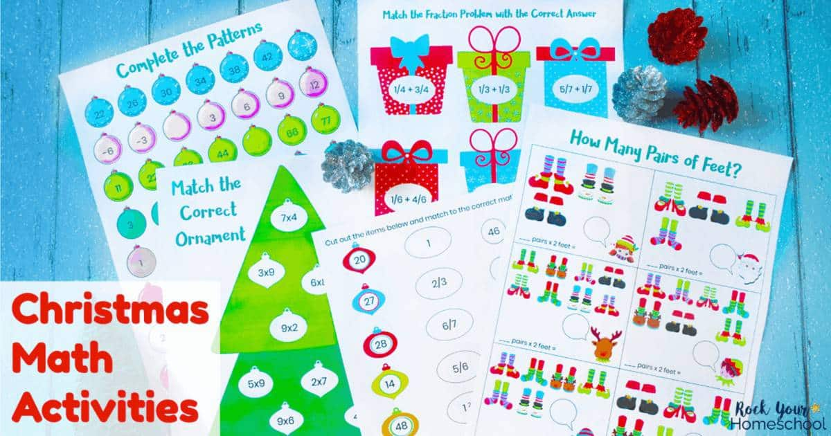 Give your kids holiday learning fun with these free printable Christmas math activities.