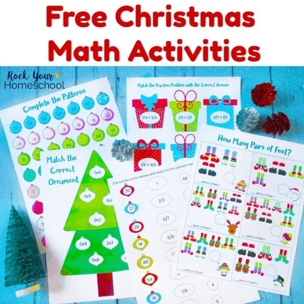 These free printable Christmas math activities are wonderful ways to enjoy holiday learning fun with kids.