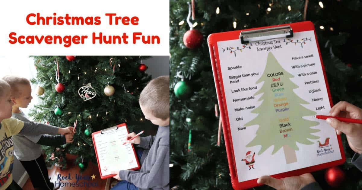 This free printable Christmas Tree Scavenger Hunt is an easy way to enjoy holiday fun with your kids.