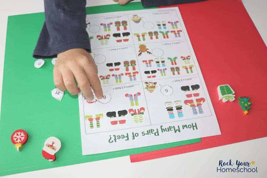 Make holiday learning fun easy with these free printable Christmas math activities.