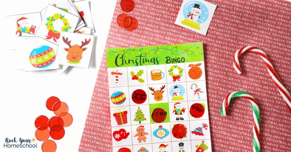 This free Christmas Bingo game is awesome for easy holiday fun with kids.