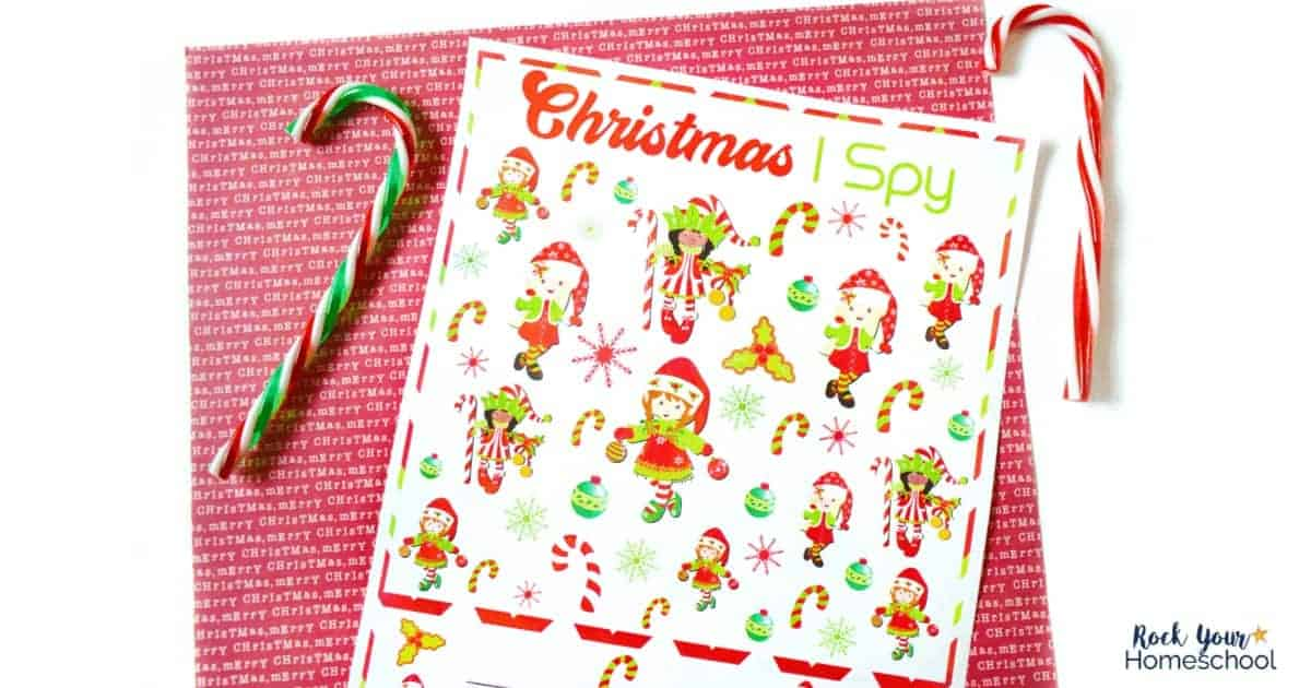 Enjoy this free Christmas I Spy printable activity for easy holiday fun with kids.
