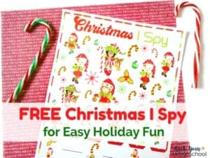 This free Christmas I Spy printable is an easy way to have holiday fun with kids.