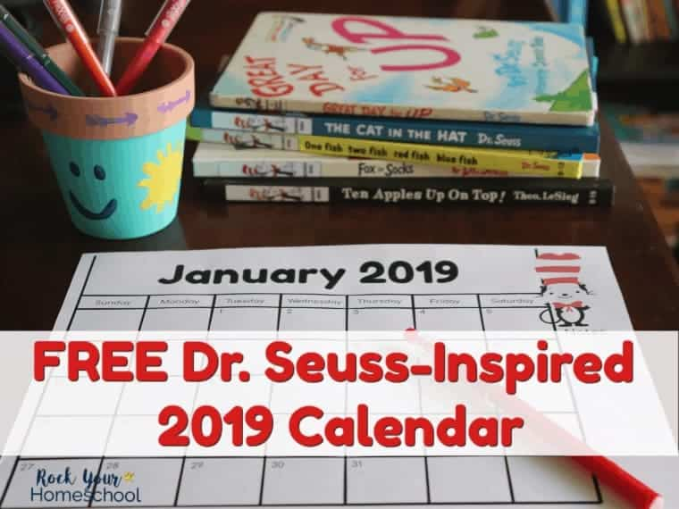 Have fun planning 2019 with this free printable Dr. Seuss-Inspired calendar.