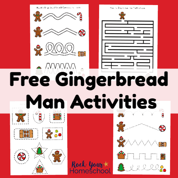 These 4 free printable gingerbread man activities are wonderful ways to have easy holiday fun with kids.