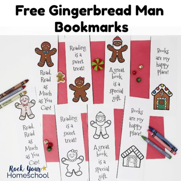 These free Gingerbread Man bookmarks are wonderful ways to have easy holiday fun with kids. Includes coloring bookmarks & ready-to-go!