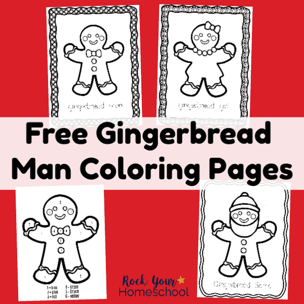 These free Gingerbread Man Coloring Pages are wonderful ways to enjoy easy holiday fun with kids.
