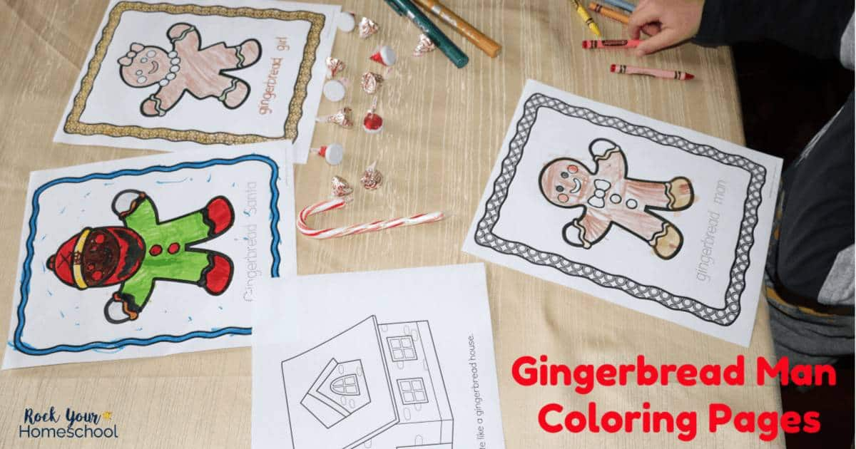 Be ready for easy holiday fun with kids using this printable set of free Gingerbread Man Coloring Pages.