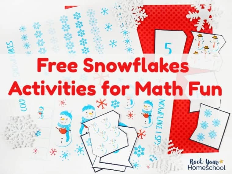 Free Snowflake Activities Pack for Marvelous Math Fun