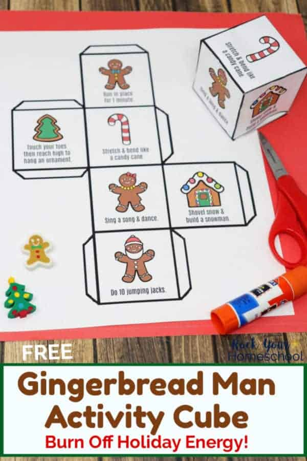 Free Gingerbread Man Activity Cube to Get Up & Move