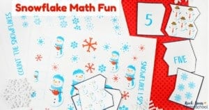Have some winter math fun with kids using these free printable snowflake activities.