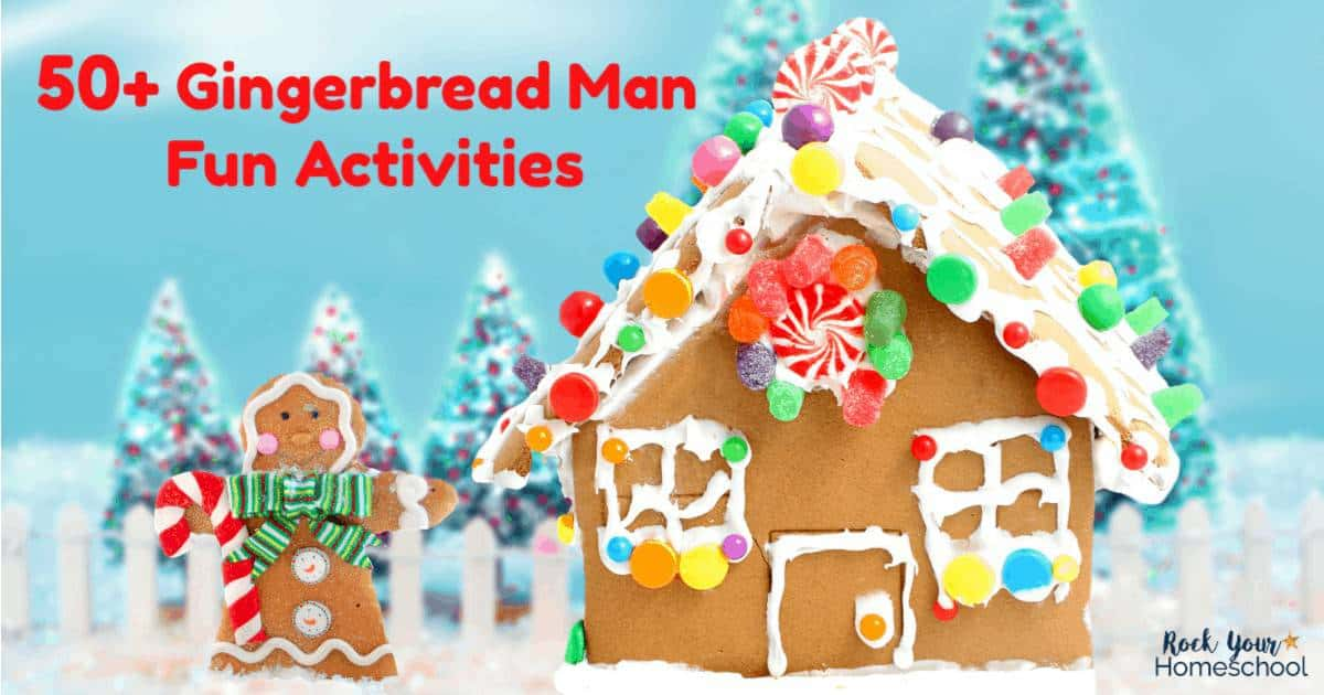 Enjoy these 50+ Gingerbread Man Fun activities for easy holiday fun with kids.
