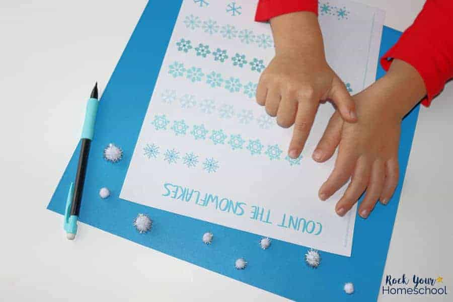 Young learners will enjoy this Count the Snowflake printable found in this pack of free Snowflake Activities.