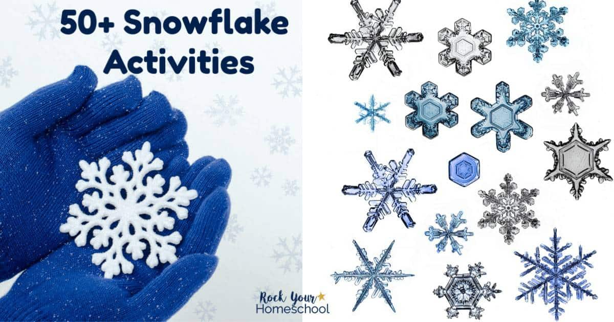 Need winter fun ideas to keep kids busy? These 50+ Snowflake Activities are awesome ways to enjoy learning fun with kids.