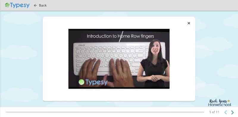 Your kids get visual & audio prompts & demonstrations in their Typesy video lessons.