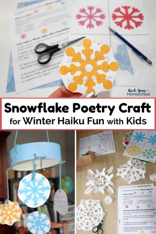 Snowflake Poetry Craft for Winter Haiku Fun with Kids