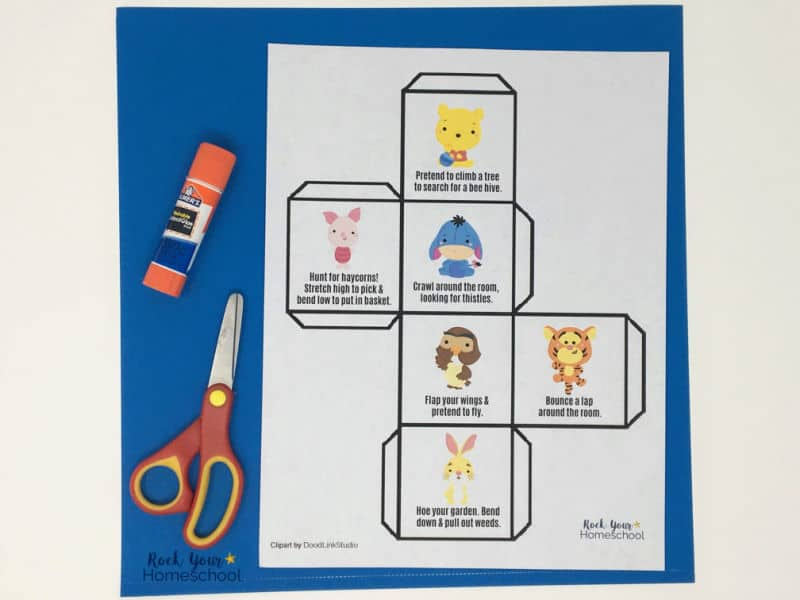 This Winnie the Pooh-Inspired Activity Cube is such an easy way to extend learning fun with these classic stories.