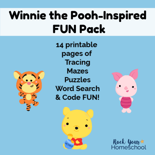 An easy & fun way to celebrate Winnie the Pooh Day is with free printable activities!