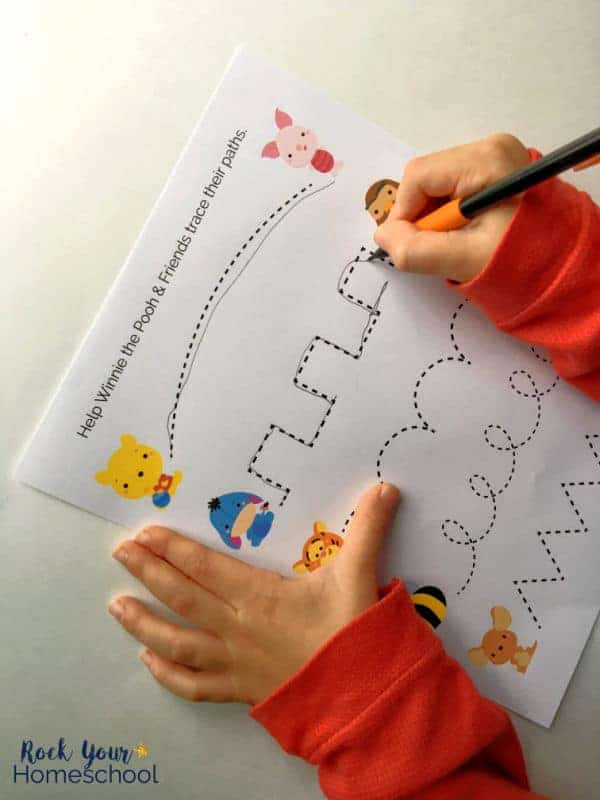 Enjoy these free Winnie the Pooh-Inspired printables with your kids with fun activities like tracing.