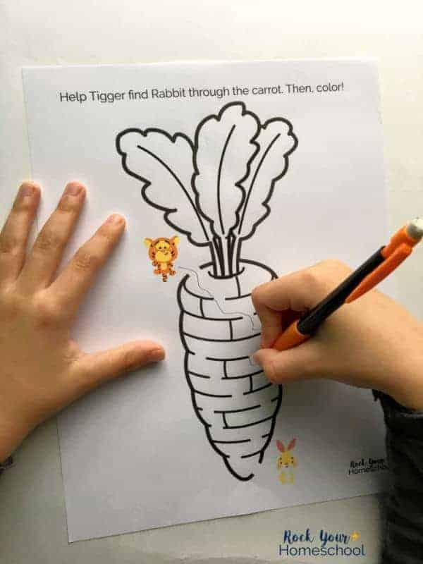 Mazes are included in this free pack of Winnie the Pooh-Inspired printables.