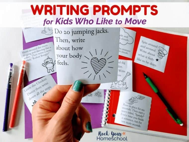 12 Free Writing Prompts for Kids Who Love to Move!