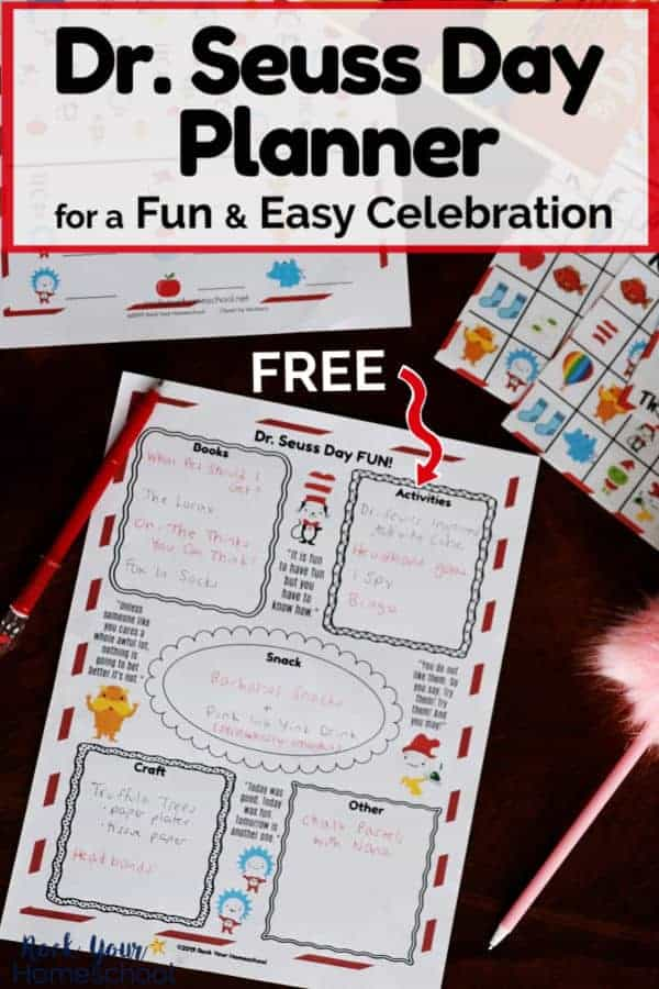 This free Dr. Seuss Day Planner will help you easily plan a special celebration