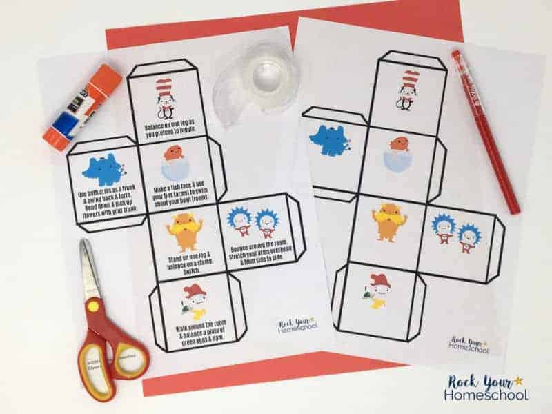 This Dr. Seuss-Inspired Activity Cube is a free printable that's easy to make & enjoy.