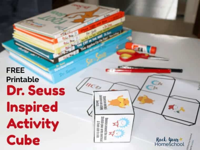 Get your kids up & moving with this free printable Dr. Seuss-Inspired Activity Cube.